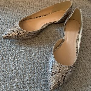 NWOB JCrew Multi-Glitter Pointed Toe Flats Size 6